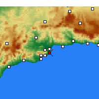 Nearby Forecast Locations - Torremolinos - Carte