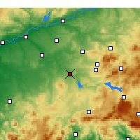 Nearby Forecast Locations - Puente Genil - Carte