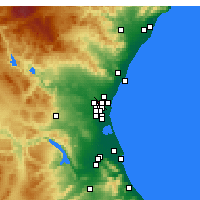 Nearby Forecast Locations - Paterna - Carte