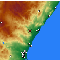 Nearby Forecast Locations - Onda - Carte