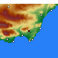 Nearby Forecast Locations - Níjar - Carte