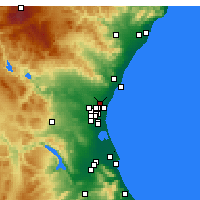 Nearby Forecast Locations - Moncada - Carte