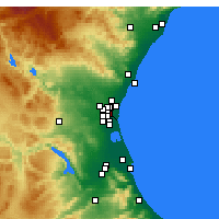 Nearby Forecast Locations - Mislata - Carte