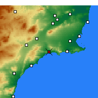 Nearby Forecast Locations - Mazarrón - Carte