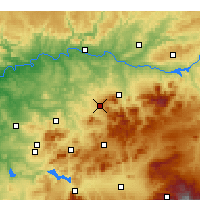 Nearby Forecast Locations - Martos - Carte