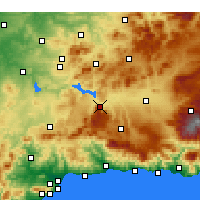 Nearby Forecast Locations - Loja - Carte