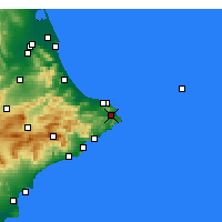 Nearby Forecast Locations - Xàbia - Carte