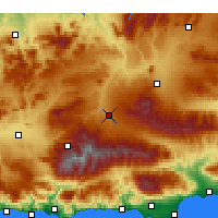 Nearby Forecast Locations - Guadix - Carte