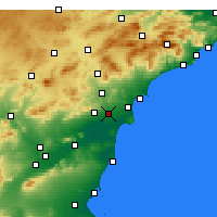 Nearby Forecast Locations - Elche - Carte