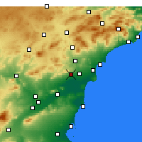 Nearby Forecast Locations - Crevillent - Carte