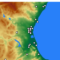 Nearby Forecast Locations - Xirivella - Carte