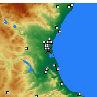 Nearby Forecast Locations - Catarroja - Carte