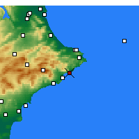Nearby Forecast Locations - Calp - Carte