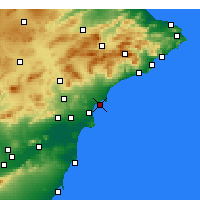 Nearby Forecast Locations - Alicante - Carte