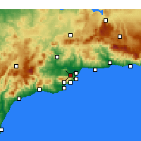 Nearby Forecast Locations - Alhaurín de la Torre - Carte