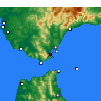 Nearby Forecast Locations - Algésiras - Carte