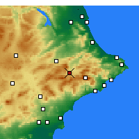 Nearby Forecast Locations - Alcoy - Carte