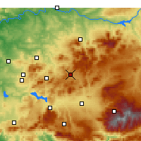 Nearby Forecast Locations - Alcalá la Real - Carte