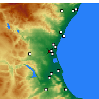 Nearby Forecast Locations - Alaquàs - Carte