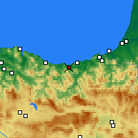 Nearby Forecast Locations - Zarautz - Carte