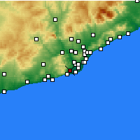 Nearby Forecast Locations - Viladecans - Carte