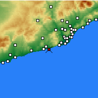 Nearby Forecast Locations - Sitges - Carte