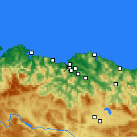 Nearby Forecast Locations - Santurtzi - Carte