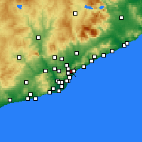 Nearby Forecast Locations - Santa Coloma de Gramenet - Carte