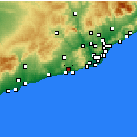 Nearby Forecast Locations - Sant Pere de Ribes - Carte