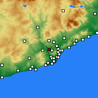 Nearby Forecast Locations - Rubi - Carte