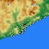 Nearby Forecast Locations - Ripollet - Carte