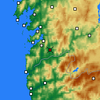 Nearby Forecast Locations - Ponteareas - Carte