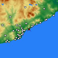 Nearby Forecast Locations - Premià de Mar - Carte