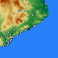 Nearby Forecast Locations - Pineda de Mar - Carte