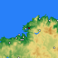 Nearby Forecast Locations - Narón - Carte