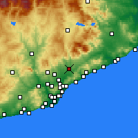 Nearby Forecast Locations - Granollers - Carte