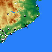 Nearby Forecast Locations - Blanes - Carte