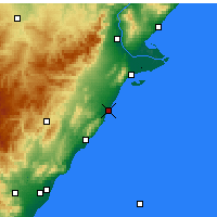 Nearby Forecast Locations - Benicarló - Carte
