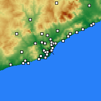 Nearby Forecast Locations - Eixample - Carte