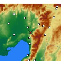 Nearby Forecast Locations - Osmaniye - Carte