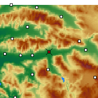 Nearby Forecast Locations - Nazilli - Carte