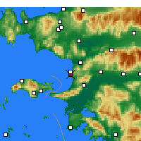 Nearby Forecast Locations - Kuşadası - Carte