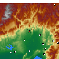 Nearby Forecast Locations - Kozan - Carte