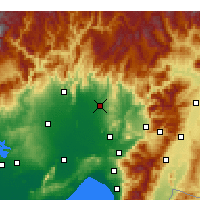 Nearby Forecast Locations - Kadirli - Carte