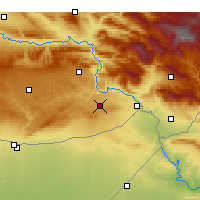 Nearby Forecast Locations - İdil - Carte