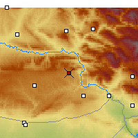 Nearby Forecast Locations - Dargeçit - Carte