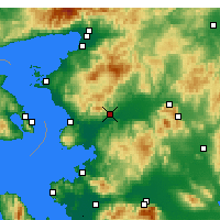 Nearby Forecast Locations - Bergama - Carte