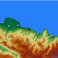 Nearby Forecast Locations - Ünye - Carte