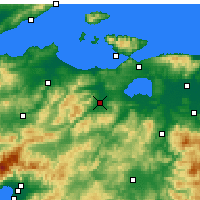 Nearby Forecast Locations - Gönen - Carte