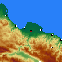 Nearby Forecast Locations - Çarşamba - Carte